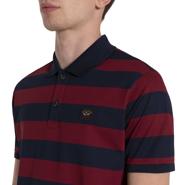 Paul & Shark BLOCK STRIPE POLO