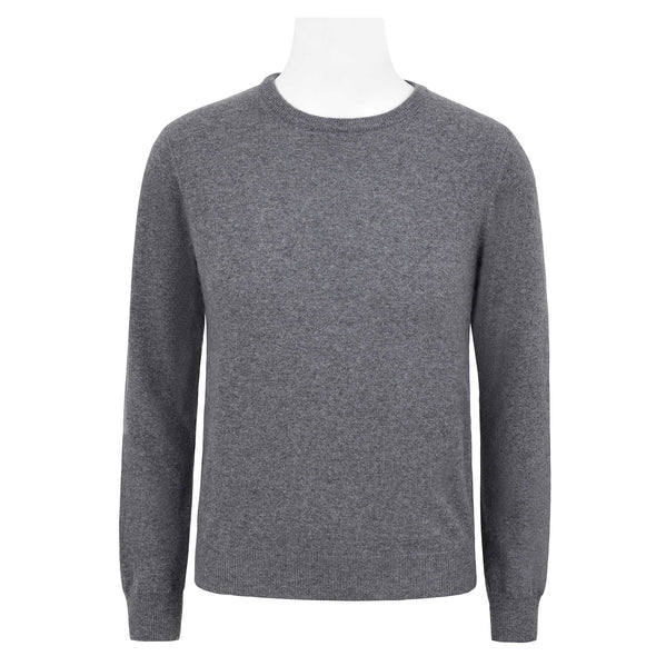 HENRY SARTORIAL CASHMERE BLEND CREW NECK KNIT
