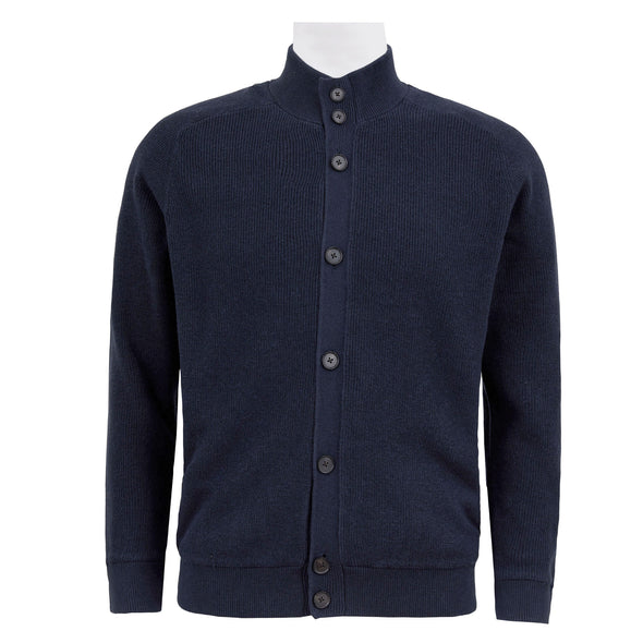 HACKETT FLEECE LINED KNITTED JACKET