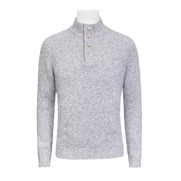 GRAN SASSO 1/4 BUTTON KNIT