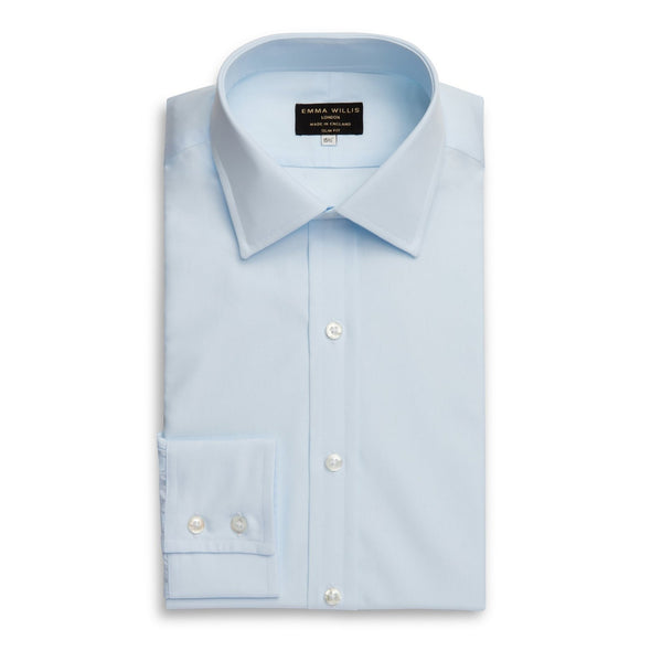 EMMA WILLIS ICE BLUE SUPERIOR COTTON SHIRT