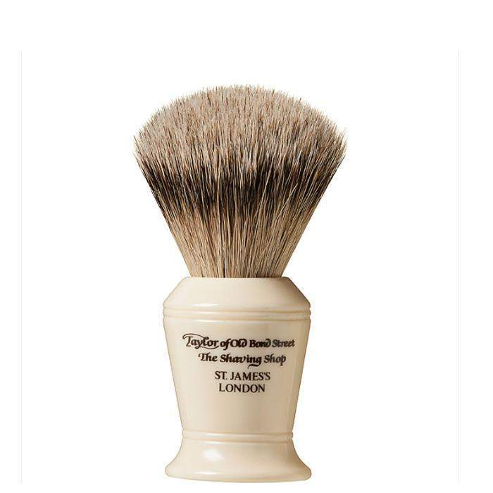 TAYLORS OF OLD BOND STREET-Taylor Silver Tip Badger Shaving Brush-Henry Bucks