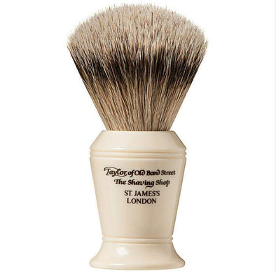 TAYLORS OF OLD BOND STREET-Taylor of Old Bond St Silver Tip Badger Brush - Large-Henry Bucks