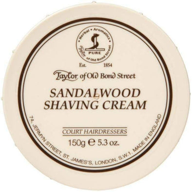 TAYLORS OF OLD BOND STREET-Taylor of Old Bond Street Shaving Cream Bowl - Sandalwood-Henry Bucks