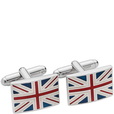 LONDON BADGE & BUTTON CO.-Henry Bucks Union Jack Cufflinks-Henry Bucks
