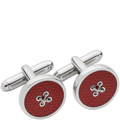 LONDON BADGE & BUTTON CO.-Henry Bucks Enamel Button Cufflinks-Henry Bucks