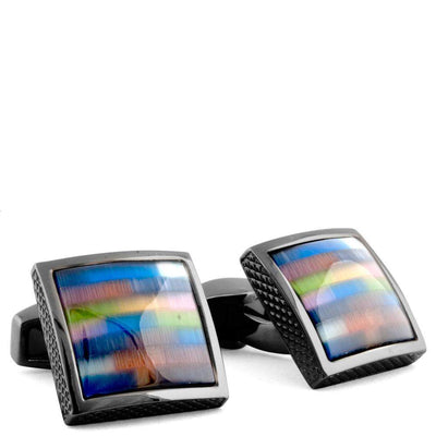 TATEOSSIAN-Tateossian Multicolour Fiber Optic Cufflinks-Henry Bucks