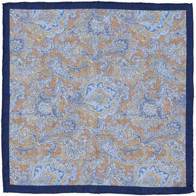 Ascot Paisley Print Pocket Square
