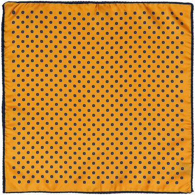 Henry Bucks-Henry Bucks Geo Print Silk Pocket Square-Henry Bucks