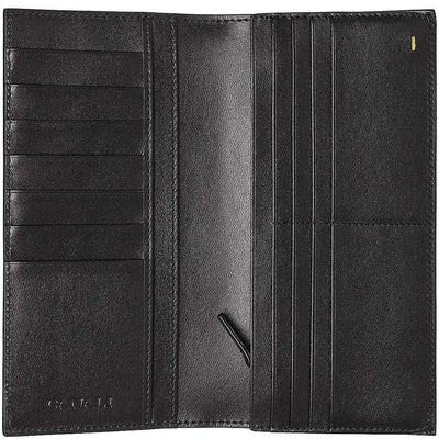 Canali Tumbled Calf Leather Card Wallet