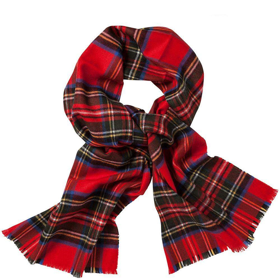 Johnston Royal Stewart Tartan Merino Scarf