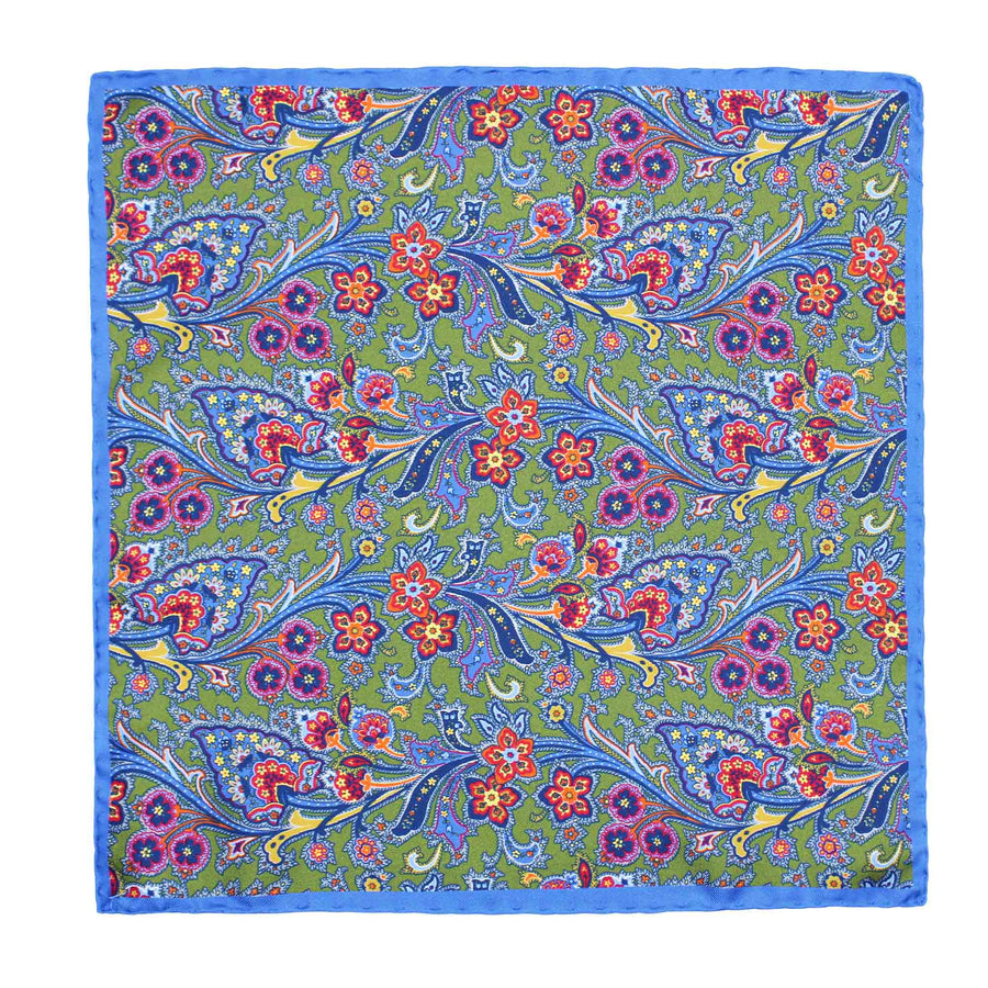 ASCOT FLORAL POCKET SQUARE