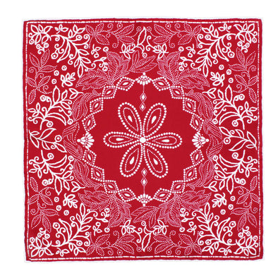 ASCOT SILK PAISLEY POCKET SQUARE