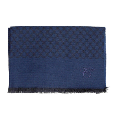 CANALI DIAMOND WEAVE WOOL SCARF