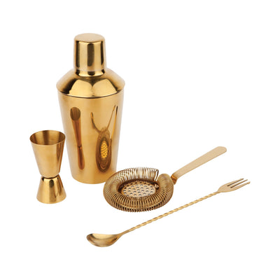 Luxe Cocktail Shaker set Gold