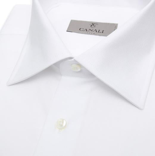 CANALI PLAIN TWILL  SHIRT WHITE DC