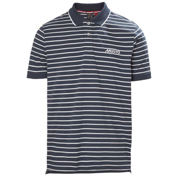 MUSTO MEN  RHINE STRIPE POLO *(Online Only)