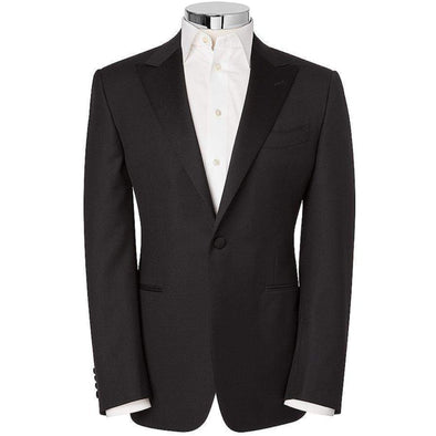 CANALI PEAK LAPEL FF D/SUIT  BLACK REG