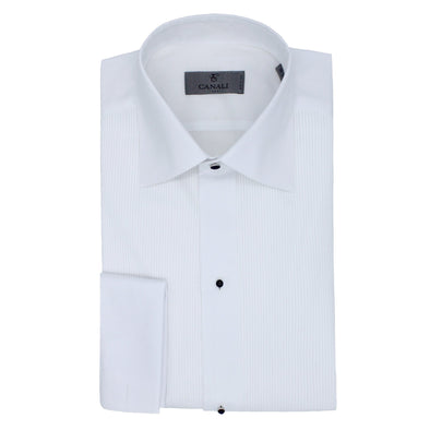CANALI STUD FRONT DINNER SHIRT WHITE