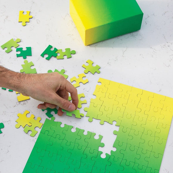 AREAWARE GRADIENT PUZZLE SMALL GREEN YELLOW