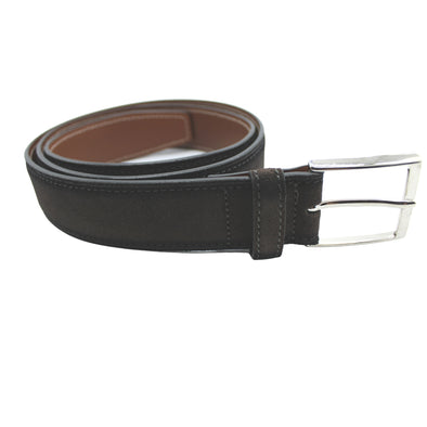 HENRY SARTORIAL SUEDE BELT BURNISHED EDGE