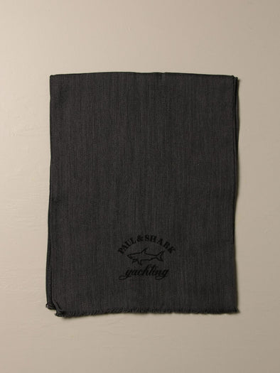 PAUL & SHARK MENS WOVEN SCARF - DARK GREY