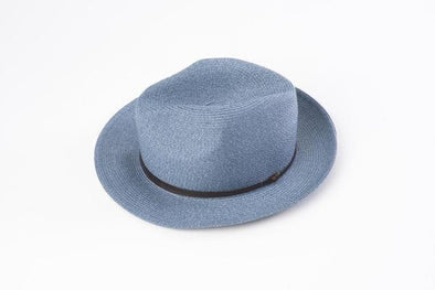 BORSALINO SUMMER HAT  DENIM BLUE