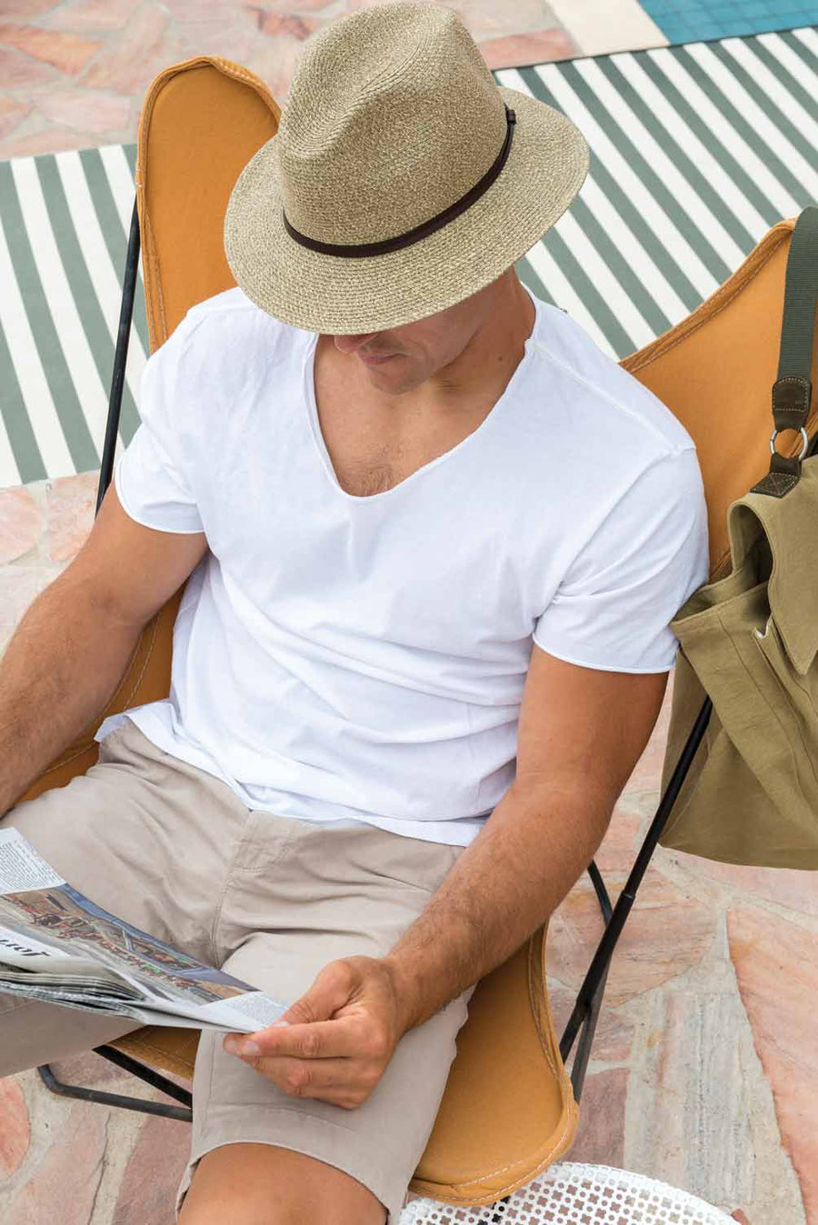 BORSALINO SUMMER HAT - CAFE