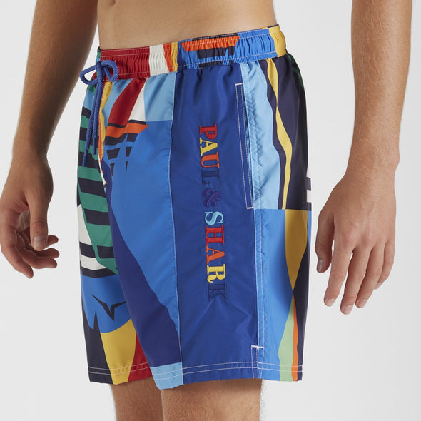 Paul & Shark SAIL PRINT SWIM SHORT
