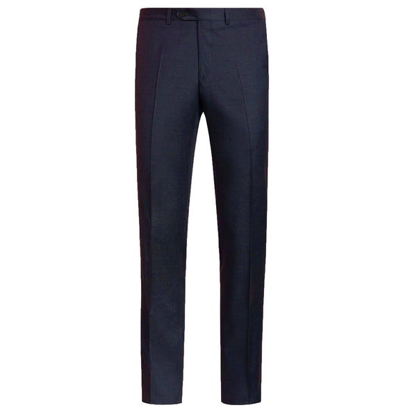 HB TWILL WOOL 1 PLEAT TROUSER CHARCOAL REG
