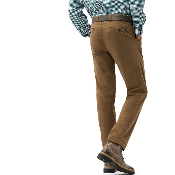 BRAX JIM PIMA COTTON FLAT FRONT TROUSER