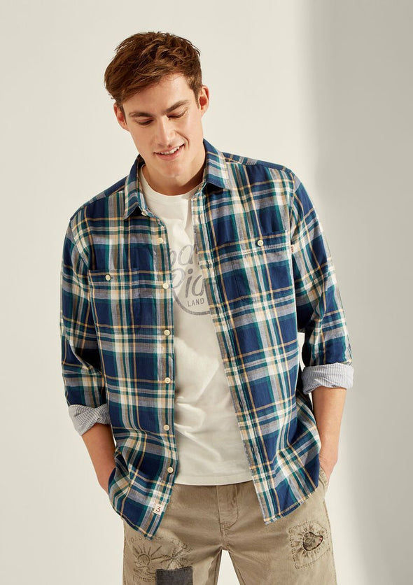 HACKETT DOUBLE FACED PLAID SHIRT
