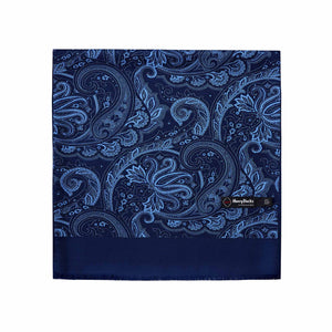 ASCOT OF GERMANY PAISLEY DOUBLE FACE SILK SCARF