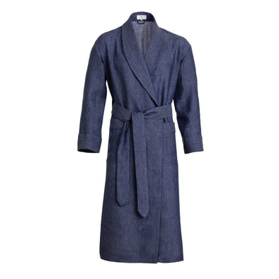 EMMA WILLIS IND-INK LINEN GOWN BLUE GREY (Online Only)