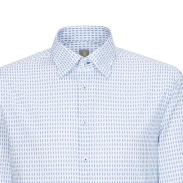 JACQUES BRITT HALF MOON SHIRT  BLUE