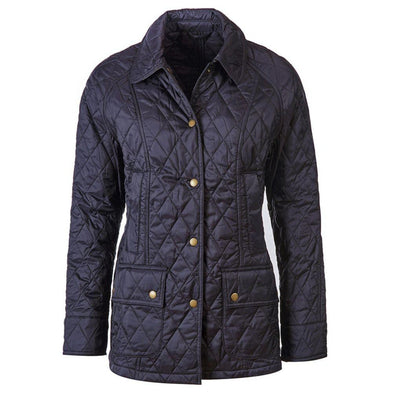 BARBOUR WOMENS BEADNELL QUILTED JACKET NAVY