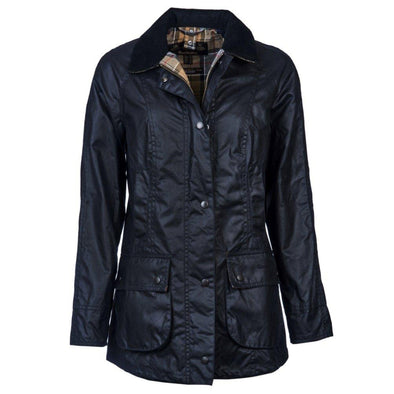 BABRBOUR WOMENS BEADNELL WAX JACKET NAVY