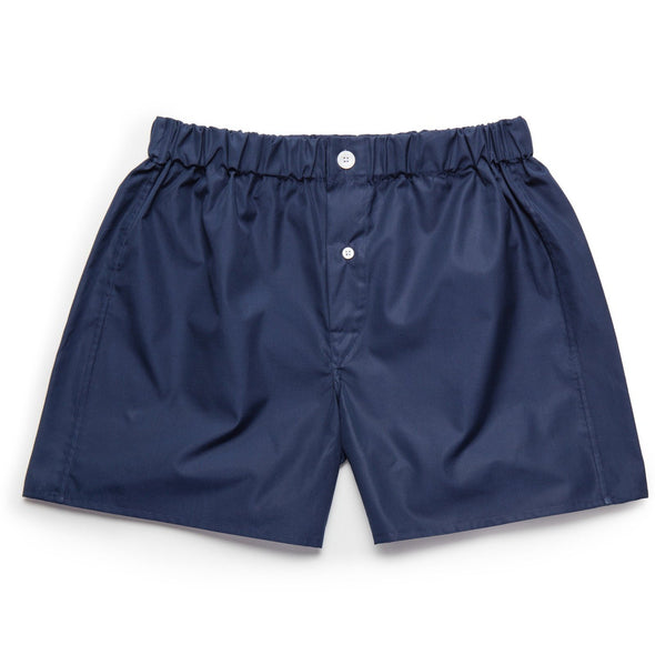 EMMA WILLIS NAVY COTTON BOXER SHORT (online only)