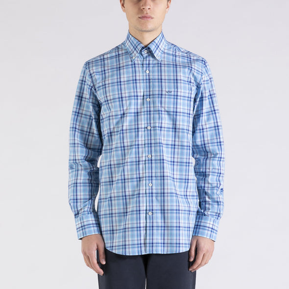 PAUL & SHARK LARGE CHECK SHIRT