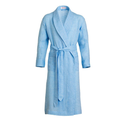EMMA WILLIS SUMMER LINEN GOWN DARK SKY BLUE (Online Only)