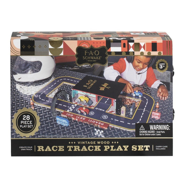 TOY RACE TRACK SET W/CARRIER  -