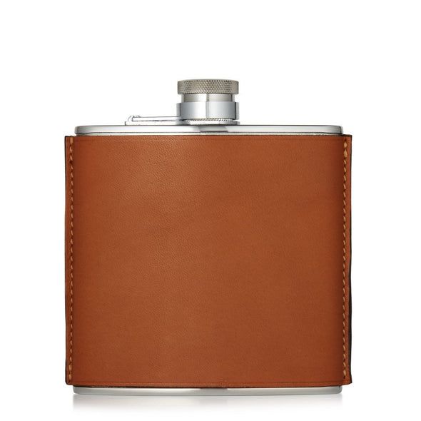 6OZ LEATHER FLASK