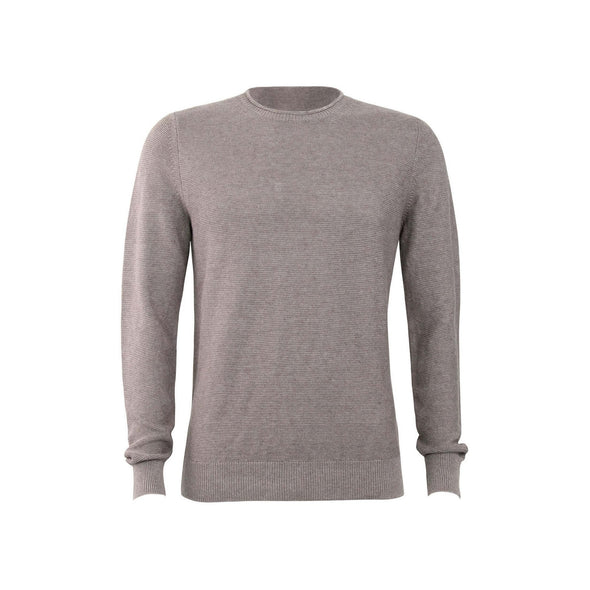 GRAN SASSO LINEN & COTTON LINK STITCH CREW NECK KNIT