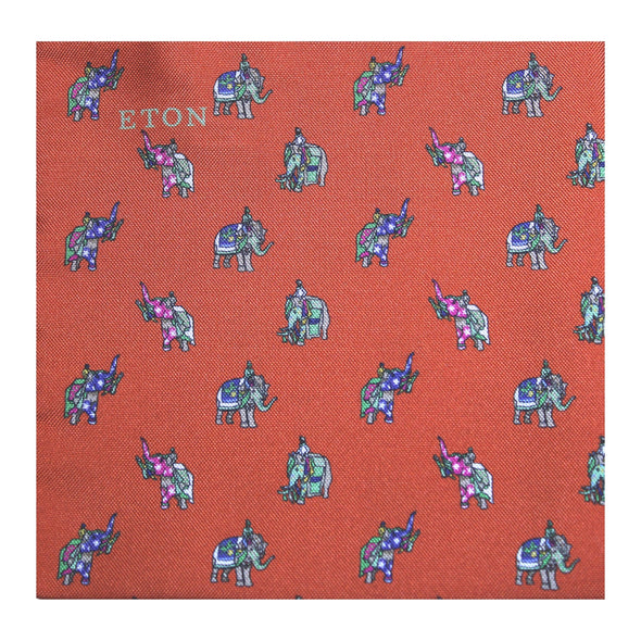 ETON ELEPHANT POCKET SQUARE