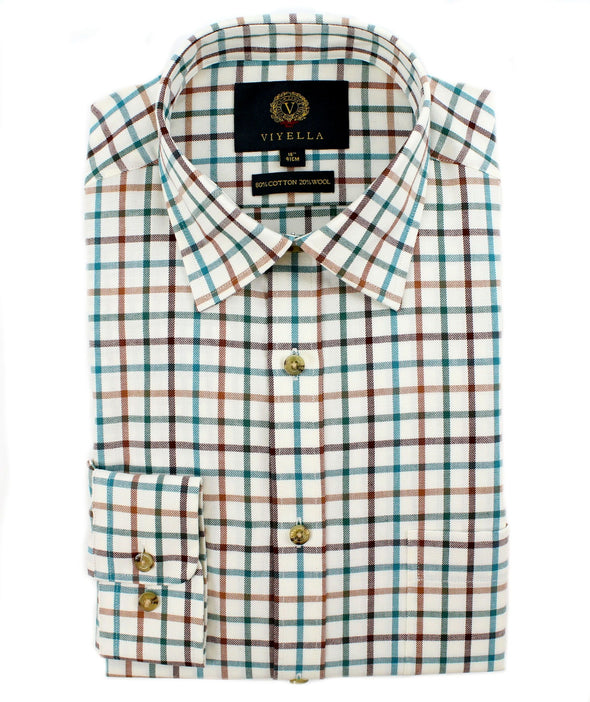 VIYELLA LARGE TATTS SHIRT  MALLARD