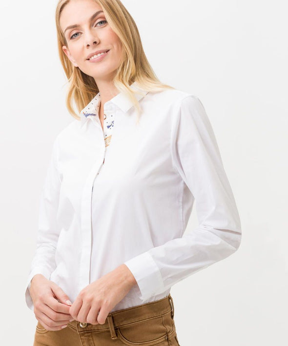 BRAX WOMENS VICTORIA SHIRT - WHITE