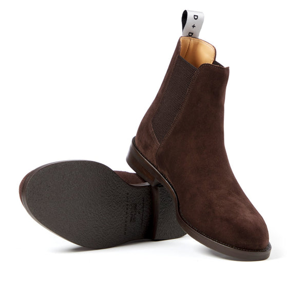 DUKE DEXTER WOOLF CHELSEA BOOT BROWN SUEDE