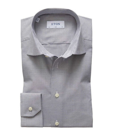 ETON MINI CHECK SHIRT