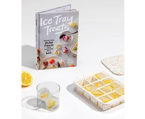ICE CUBE TRAY  WHITE & BOOK