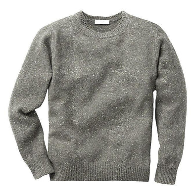 INIS MEAIN DONEGAL CREW NECK KNIT- GREY